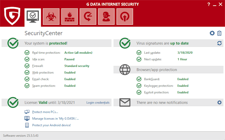G DATA Internet Security 2021 with 80% Discount Offer