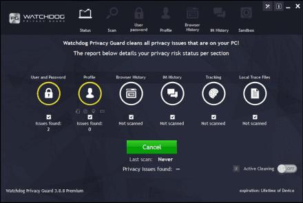 Watchdog Privacy Guard Software