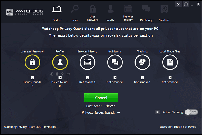 Watchdog Privacy Guard Software