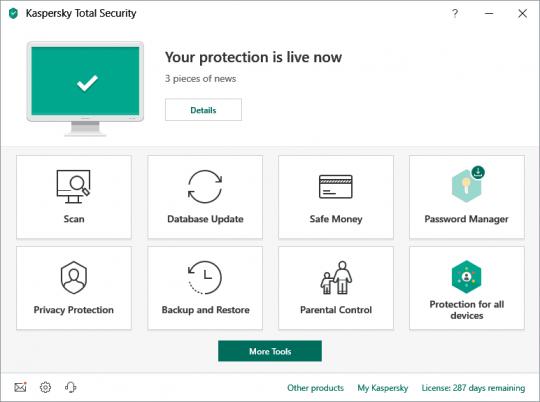 Kaspersky Total Security Software