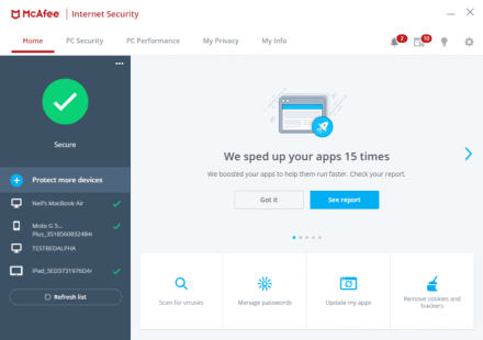 Buy McAfee Internet security software