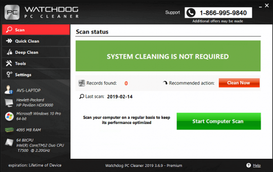 Watchdog PC Cleaner Software